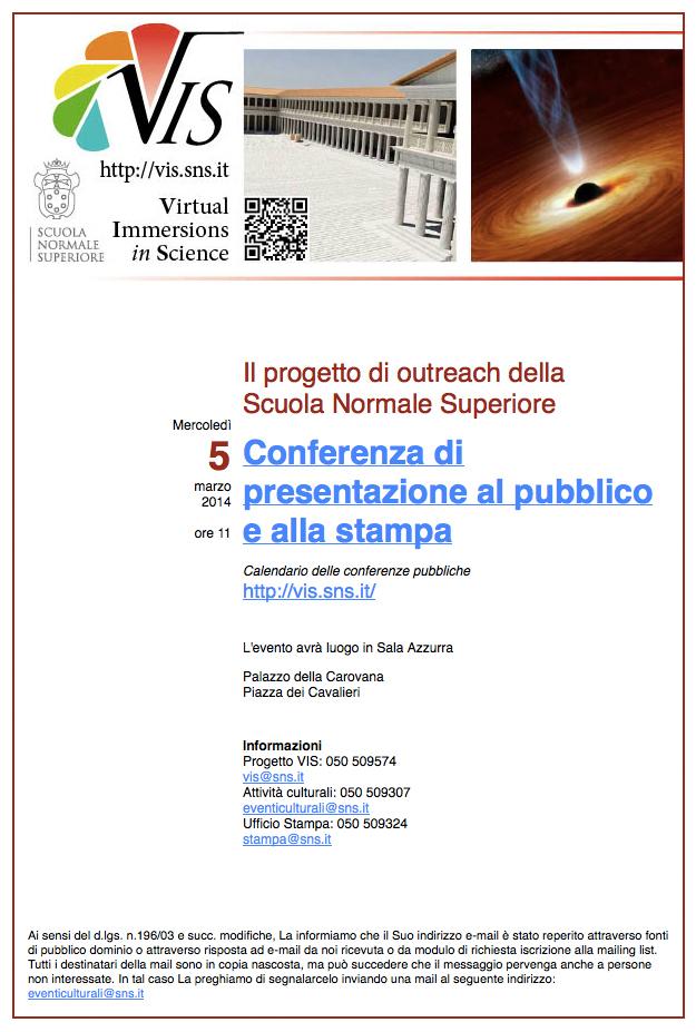 Conferenza di presentazione di VIS – 5 marzo 2014